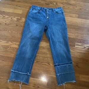 DL1961 patti high waist straight ankle jeans 28
